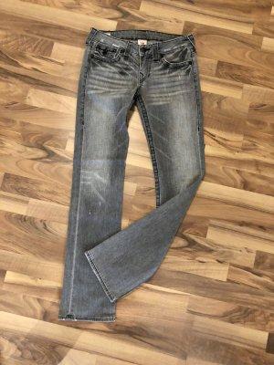 True Religion Jeansy z prostymi nogawkami ciemnoszary-szary