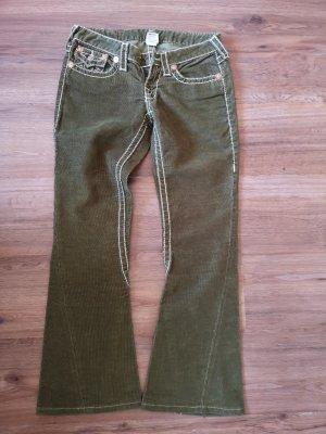 True Religion Pantalon kaki vert olive