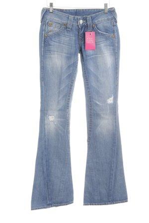 True Religion Boot Cut Jeans blau Farbverlauf Casual-Look