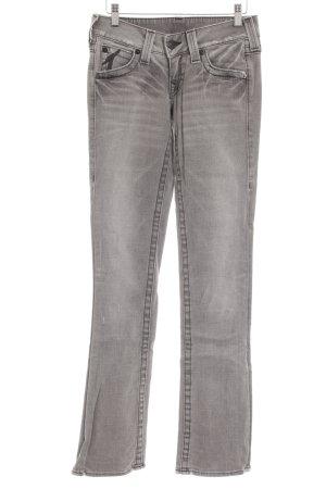 True Religion Boot Cut Jeans grau-hellgrau Casual-Look