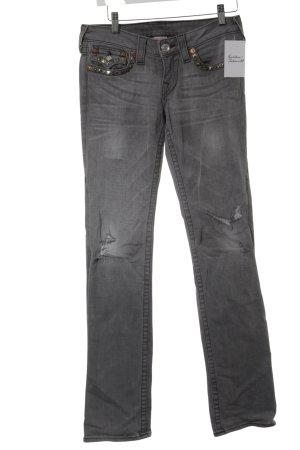 True Religion Boot Cut Jeans hellgrau meliert Casual-Look
