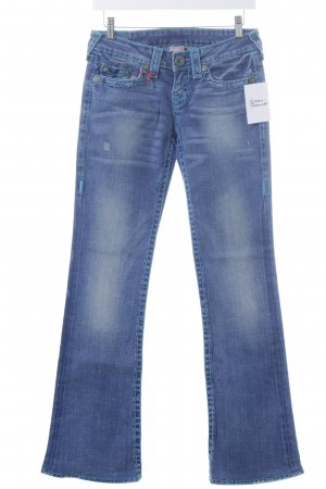"True Religion Boot Cut Jeans ""Turquoise Super T"" dark blue"