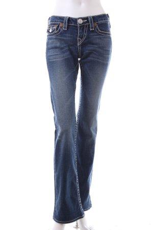 True Religion Boot Cut Jeans blue cotton