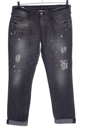 True Religion Boyfriend Jeans black casual look