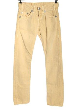 True Religion Jeansy typu boyfriend bladożółty W stylu casual