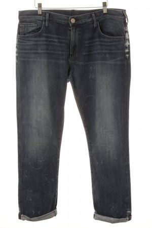 True Religion Boyfriendjeans stahlblau Street-Fashion-Look