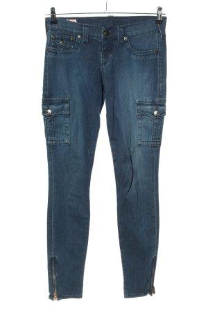"""True Religion Slim Jeans """"Krista"""" blau"""