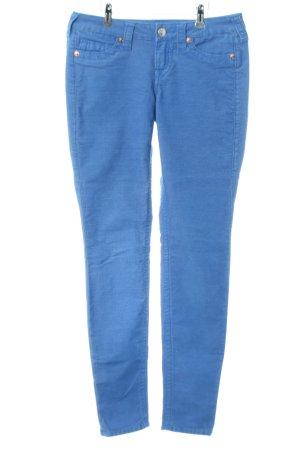 True Religion Pantalon en velours côtelé bleu style décontracté