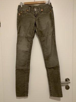 True Religion Pantalon en velours côtelé kaki