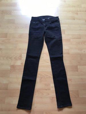 True Religion Pantalone a vita bassa blu scuro