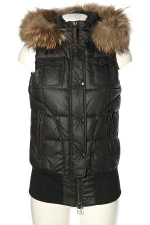 True Religion Down Vest black quilting pattern casual look