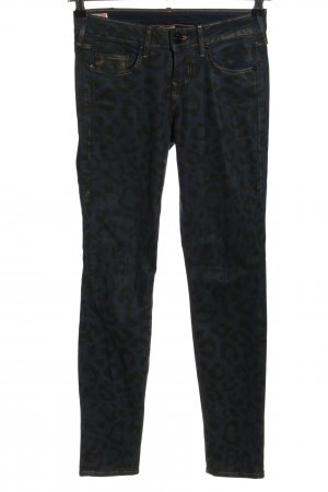 True Religion Five-Pocket Trousers blue-black allover print casual look