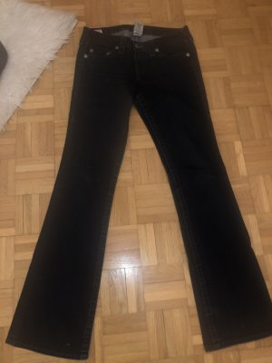 True Religion Gr 28 navy blue mit Glitzer