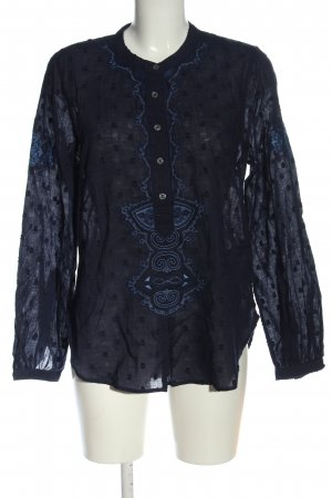 True Religion Shirt Blouse blue spot pattern elegant