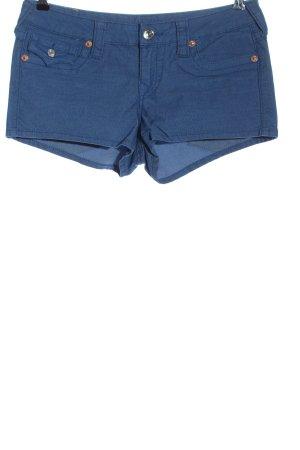 True Religion Pantalón corto azul look casual