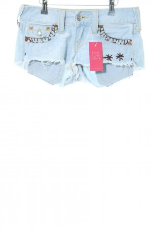 True Religion Hot Pants blau Street-Fashion-Look