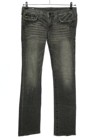 True Religion Jeans taille basse gris clair style décontracté