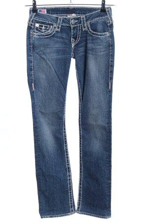 True Religion Jeans vita bassa blu stile casual