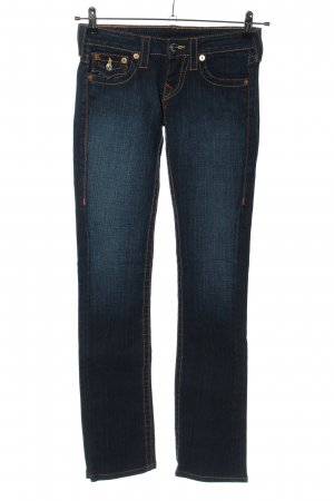 True Religion Jeansy biodrówki niebieski W stylu casual