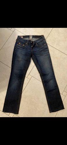 True Religion Jeansy biodrówki niebieski