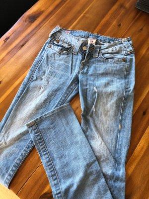 True Religion Jeans taille basse bleu azur-bleu