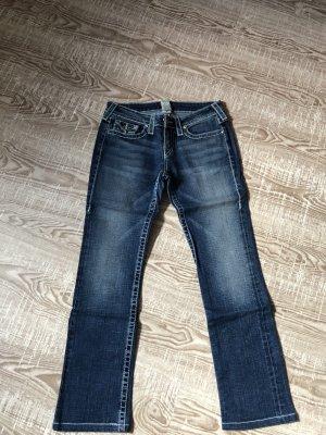 True Religion Low Rise jeans blauw