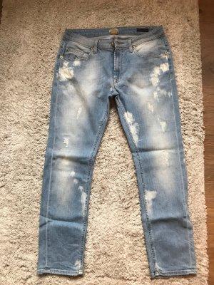 True Religion Jeansy z prostymi nogawkami biały-błękitny