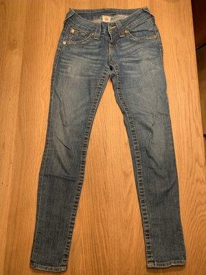 True Religion Jeansy z prostymi nogawkami stalowy niebieski