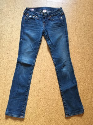 True Religion Straight Leg Jeans blue
