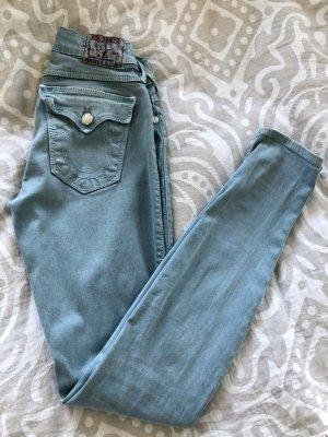 True Religion Jeans a sigaretta azzurro-azzurro