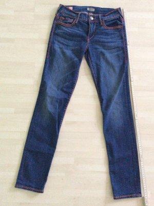True Religion Skinny Jeans blue-red