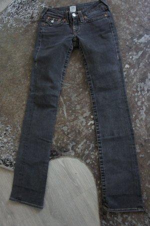 TRUE RELIGION Jeans Hose Größe 25 dunkel grau