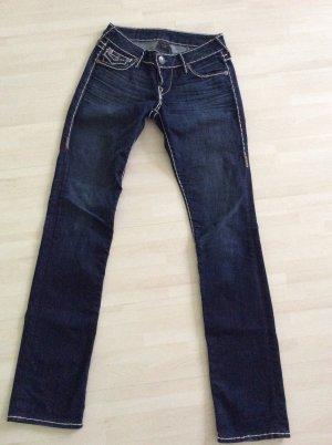 True Religion Straight Leg Jeans blue-white