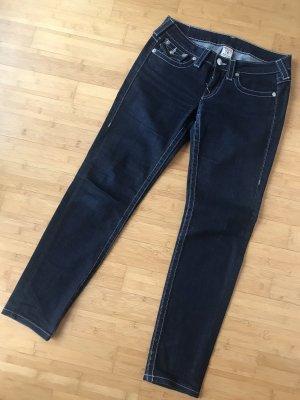 True Religion Jeans cigarette bleu foncé coton