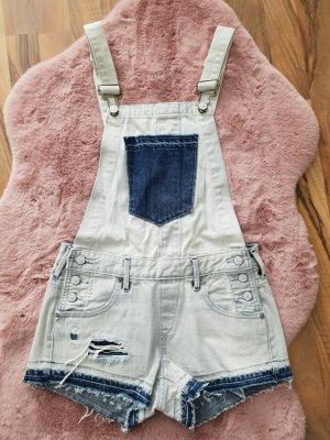 True Religion Jeans Overall Jumpsuit Einteiler Romper latzhose latzshorts