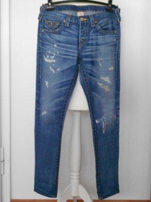 True Religion Jeans Vintage JORDAN, Distressed * Straight Leg, W28 *wie neu*