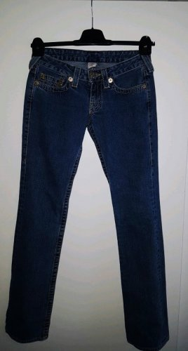 True Religion Jeans vita bassa blu Cotone
