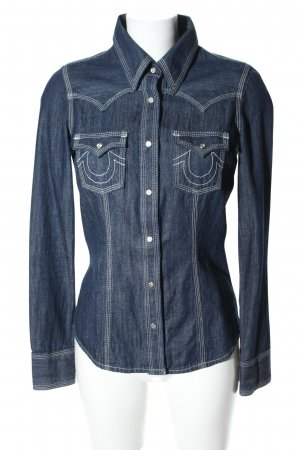 "True Religion Blusa denim ""Rocky"" blu"