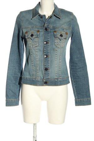 True Religion Jeansjacke blau Street-Fashion-Look