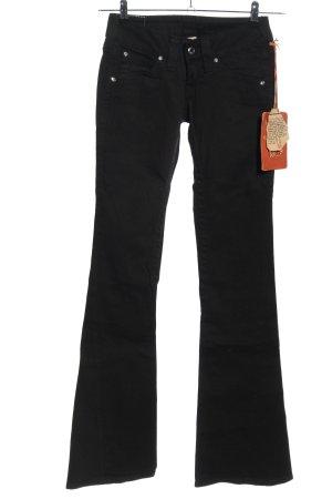 True Religion Jeansowe spodnie dzwony czarny W stylu casual
