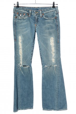 True Religion Jeans a zampa d'elefante blu stile casual