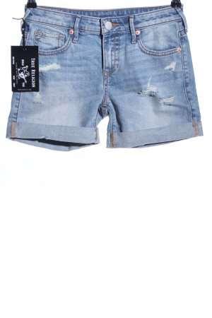 True Religion Jeansshorts blau Casual-Look