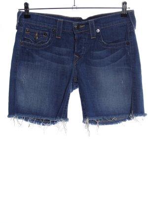 True Religion Jeansshorts blau Casual-Look