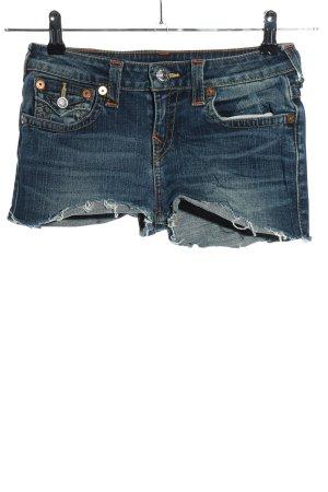 True Religion Short en jean bleu style décontracté