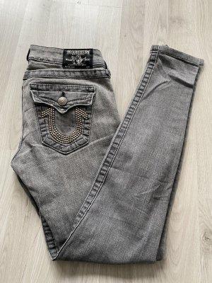 True Religion Jeans skinny argenté-gris clair