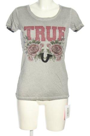 True Religion Kurzarm-Bluse Motivdruck Casual-Look