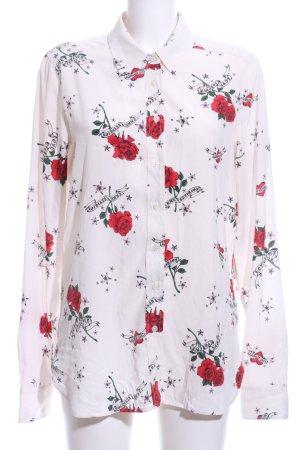True Religion Langarm-Bluse Blumenmuster Elegant