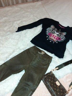 True Religion Leather Trousers ocher
