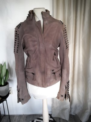True Religion Leather Jacket multicolored leather