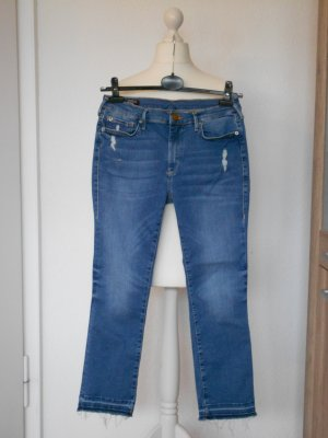 TRUE RELIGION, Modell HALLE Modfit, Mid Rise Super Skinny Jeans *Mittelblau* W30